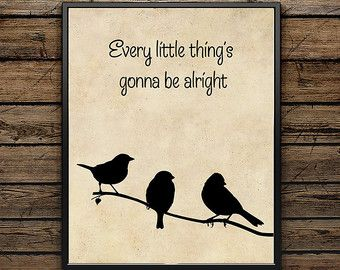 bob marley three little birds – Etsy