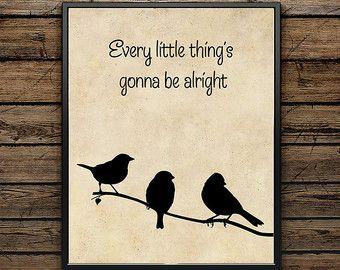 bob marley three little birds – Etsy