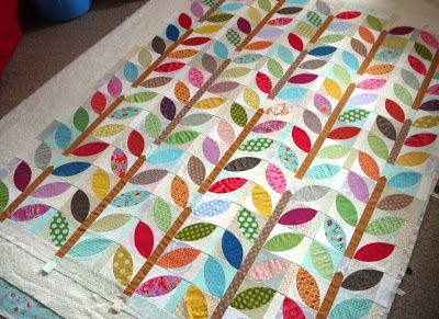 Love the fun colors in this one-FrosterleyBazaar: Not orange peel - ready to quilt!