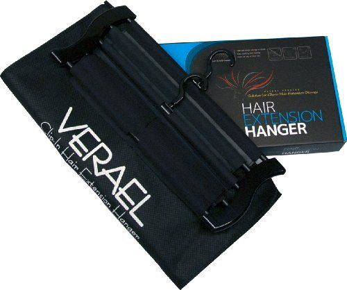 Verael Clip-In Hair Extension Hanger by Verael. $29.99. Clip in Hair Extension. Hair Extension storage. Hair Extension Hanger. Hair Extension Care. Hair Extension. Verael Extension Hanger was invented in 2010 by Angela, a socialite living in San Francisco Bay Area. Angela enjoys wearing her collection of hair extension clip-ins, but she grew frutrated storing them in a box where they get tangled up and folded. Angela was also frustrated having to wash and dry each hair ...