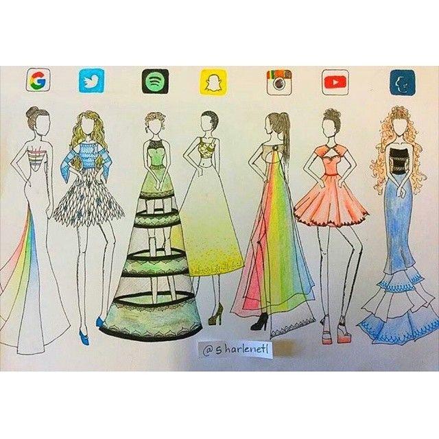 How To Draw Social Media Dresses