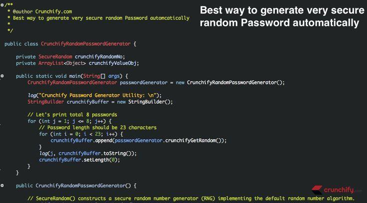 New: In #Java How to Generate Strong Random #Password –  SecureRandom Complete #Tutorial https://crunchify.com/java-generate-strong-random-password-securerandom/ #job #interview