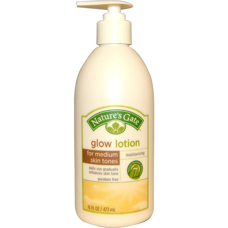 Nature's Gate, Glow Lotion, Moisturizing, For Medium Skin Tones, 16 fl oz (473 ml) - iHerb.com
