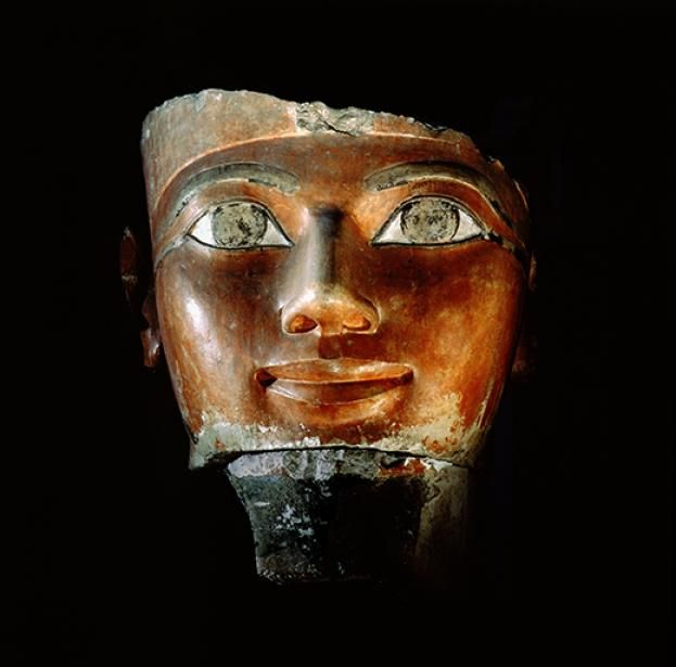 A fragment of a statue of the female pharaoh Hatshepsut. By ruling in her own right, Hatshepsut has often been cast as exceptional, yet at least seven women wielded supreme power in ancient Egypt © Bridgeman