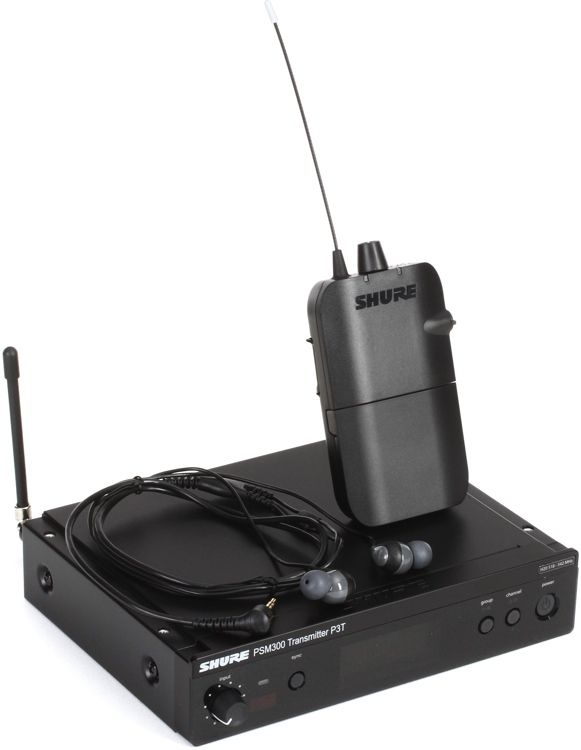 Shure P3tr112gr Wireless In Ear Monitor System H20 Band
