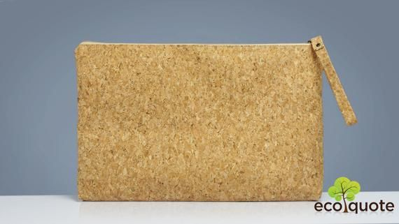 EcoQuote 13″-inch Laptop Pouch Sleeve Handmade Cork Eco-Friendly Material Great For Vegan, Environme
