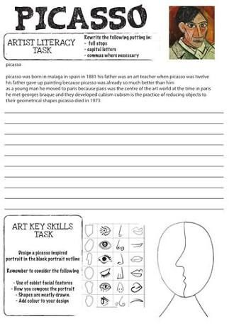 Image result for student art worksheets