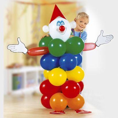 Deko: Ballon-Clown