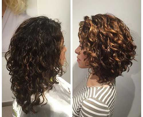 Best 25+ Long Curly Bob Ideas On Pinterest