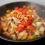 Wok de pollo y verduras con salsa de soja