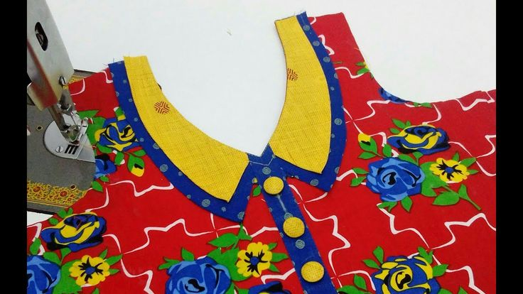 Latest Front Neck Design (Collar Style Neck) Cutting and Stitching