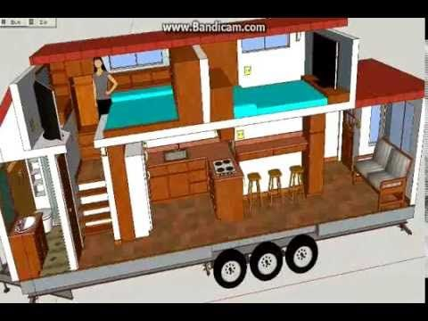 A Not so tiny Tiny House - Tiny House design using Sketchup - YouTube