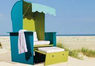 Urlaubsfeeling im eigenen Garten. Mit dem selbstgebauten Strandkorb riecht man förmlich das Meer und hört das Rauschen der Wellen. #OBI #Selbstbauanleitung