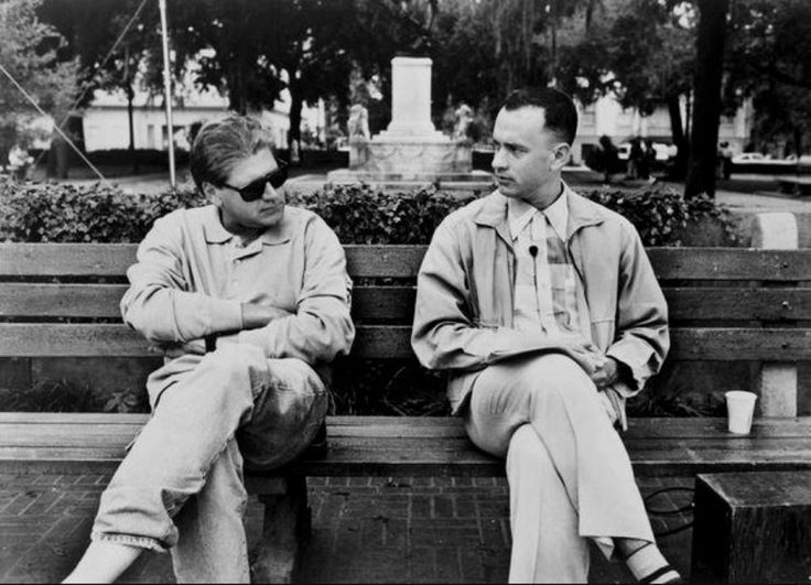 Director Robert Zemeckis with Tom Hanks on the set of Forrest Gump (1993). @historylvrsclub