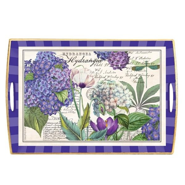 Look What I Found On Hydrangea Handled Decoupage Tray By Michel Design Works