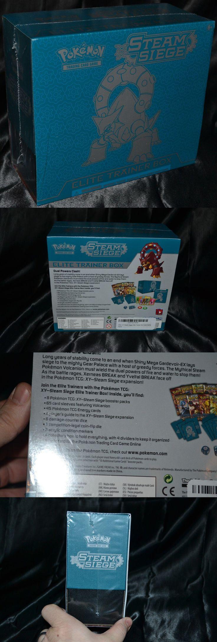 Pok mon Sealed Decks and Kits 183467: Volcanion Ex Elite Trainer Box Xy Steam Siege Set Pokemon Trading Cards Tcg Game -> BUY IT NOW ONLY: $84.74 on eBay!