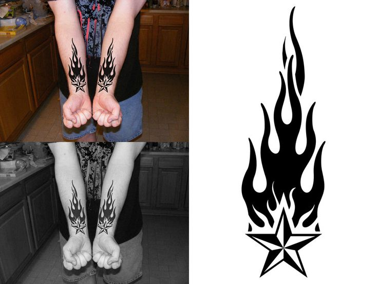 Todd's Forearm Flame Tattoo by PacoDe79 on DeviantArt