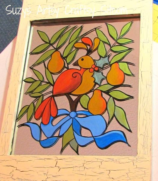 partridge pear tree pattern  If I could find all 12 patterns this could make a wonderful quilt!