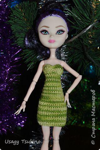 Кукольная жизнь Мастер-класс Вязание крючком МК Платье-бюстье для MH и EAH Пряжа фото 1