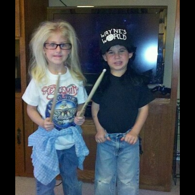 Mini Stacie & MaggieDresses Up, Waynes World, Halloween Costumes, Wayne World, Future Kids, Kids Costumes, Parties Time, Costumes Ideas, Halloween Ideas
