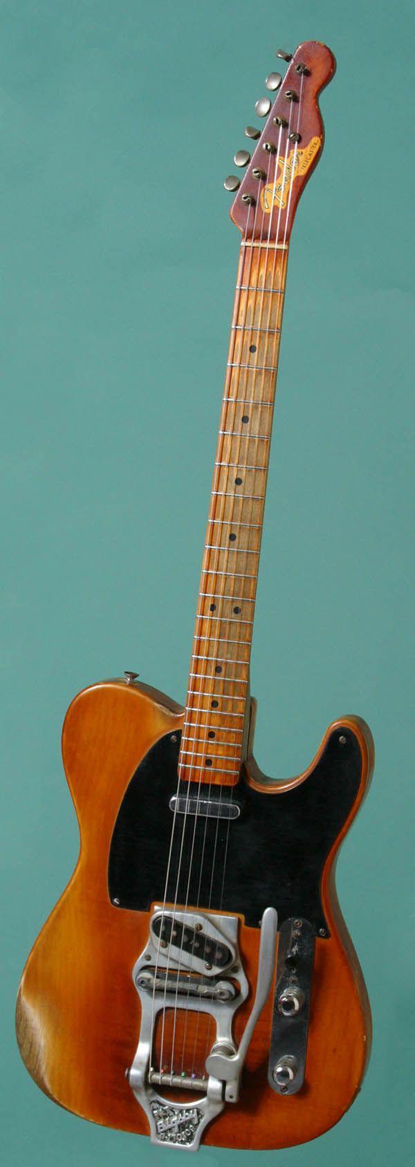 Original '52 Fender Telecaster with Bigsby tremolo.  #vintage #guitar