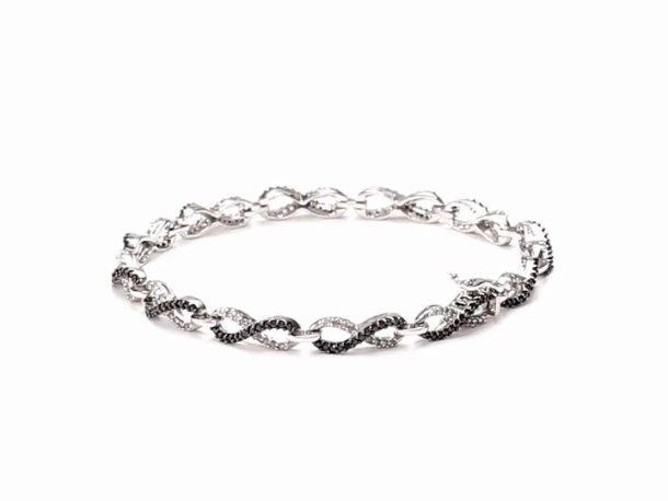 Emily & Ashley ID Bracelet with 2 Diamonds - 5.5 Inches 40Pftl89M