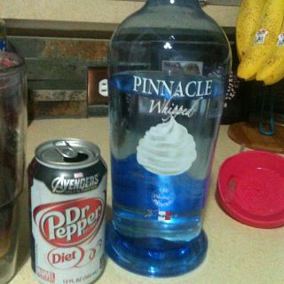 Whipped cream vodka and diet dr pepper!!! Low cal low carb... Amazing!!