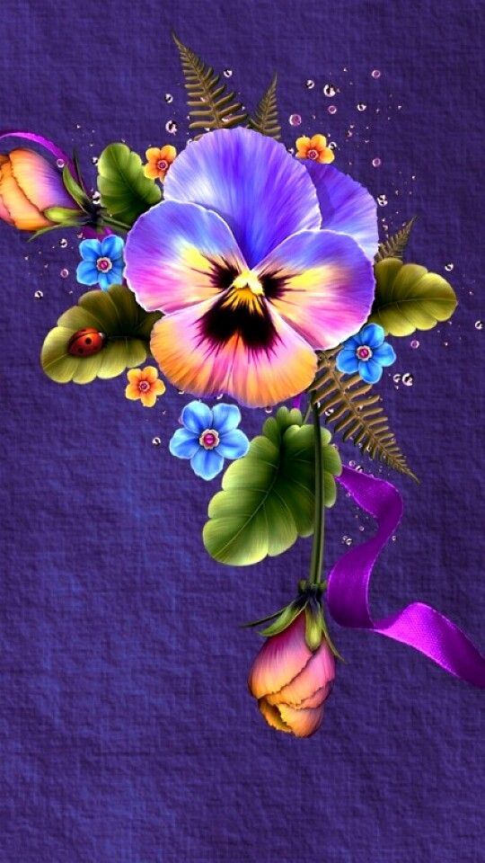 pansy flower drawing - photo #35