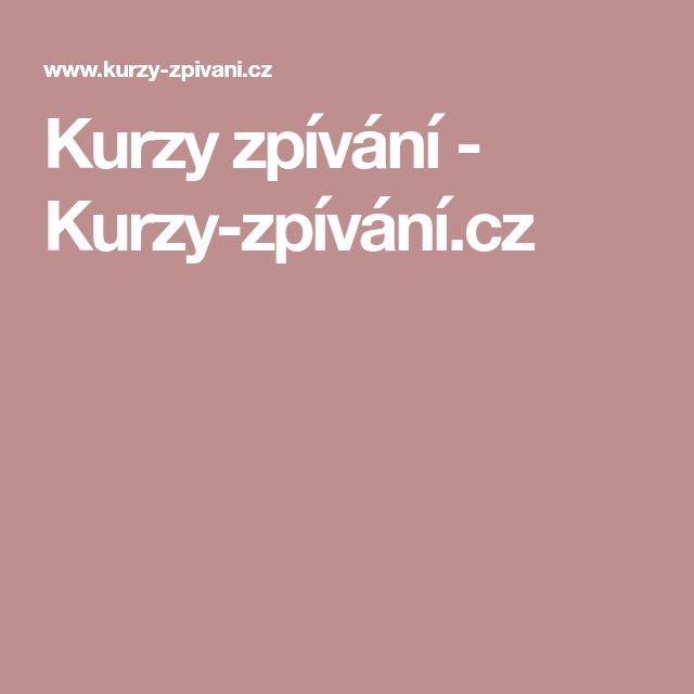 Kurzy zpívání - Kurzy-zpívání.cz
