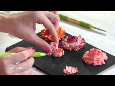 Heartfelt Creations Majestic Morning Flower Shaping Part Two - YouTube
