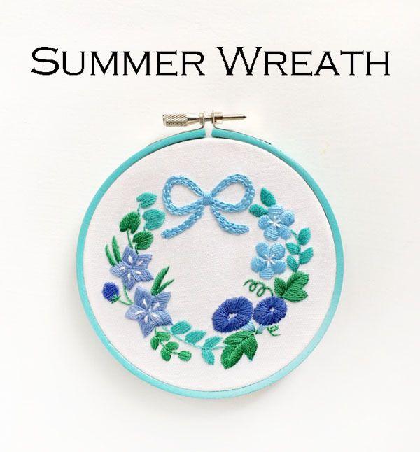 【期間限定】『夏のリース』刺繍キット | net store ~アンナとラパン