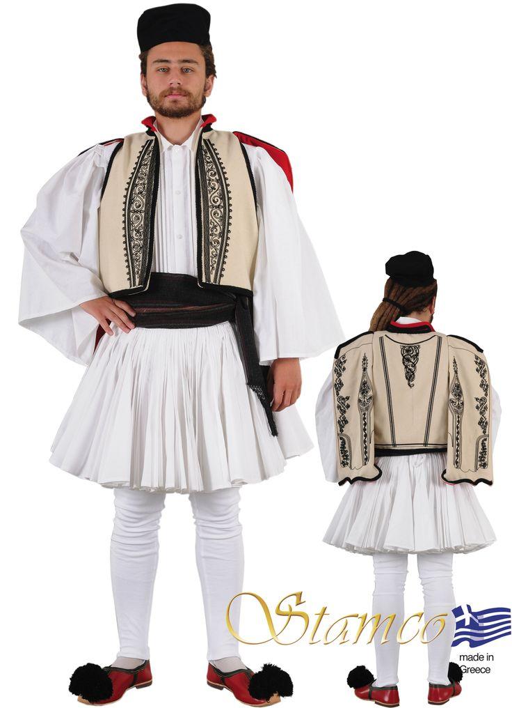 Greek traditional costume  amalia Evzonas Tsolia ARAHOVA ROUMELI MAN