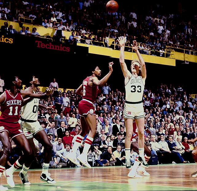 Not a Celtics fan, but I respect legends... Lary Bird and Dr.J