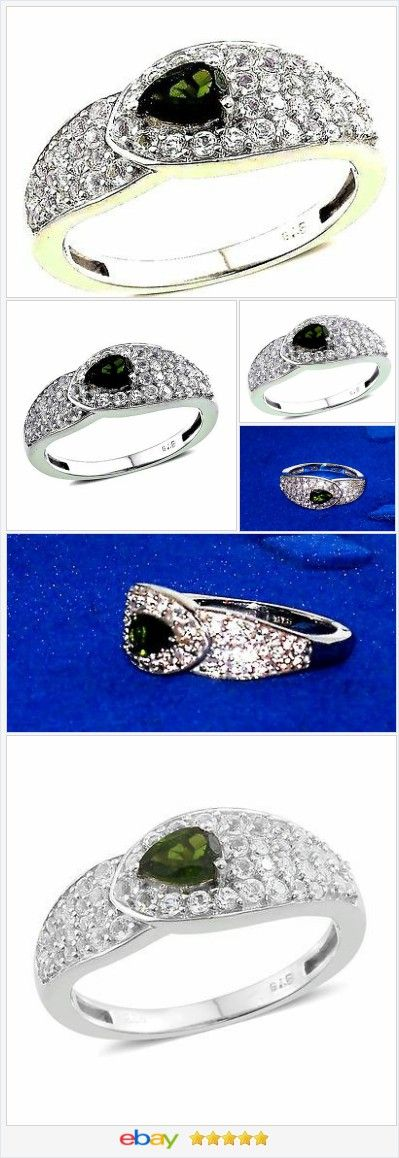 Russian Chrome Diopside ring 1.43 ct size 8 Sterling USA SELLER  | eBay  50% OFF #EBAY http://stores.ebay.com/JEWELRY-AND-GIFTS-BY-ALICE-AND-ANN