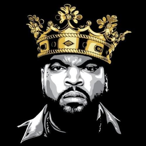 Ice Cube.  This image was all over at the How The West Was One concert in Irvine CA 2013.  His set was the best of the whole show.  Love him even more now!