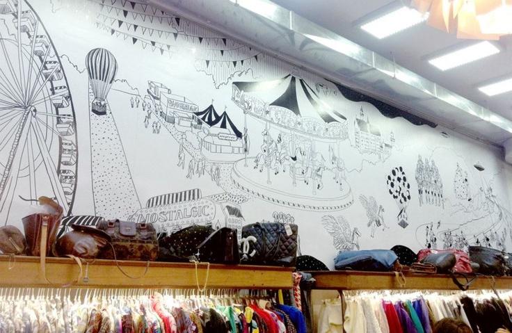 Catalina Bu   Mural tienda Nostalgic