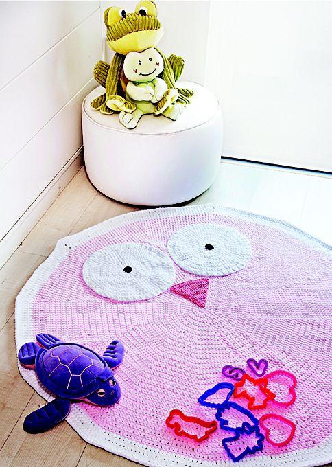 tapete coruja fast baby e sirena croche decoracao coatscorrente receitas de croch. Black Bedroom Furniture Sets. Home Design Ideas