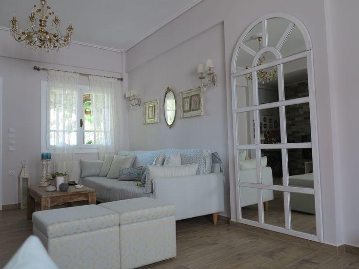 Living Room Wall Mirror-chalk paint
