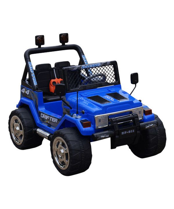 Look at this Blue Jeep Wrangler Ride-On on #zulily today!