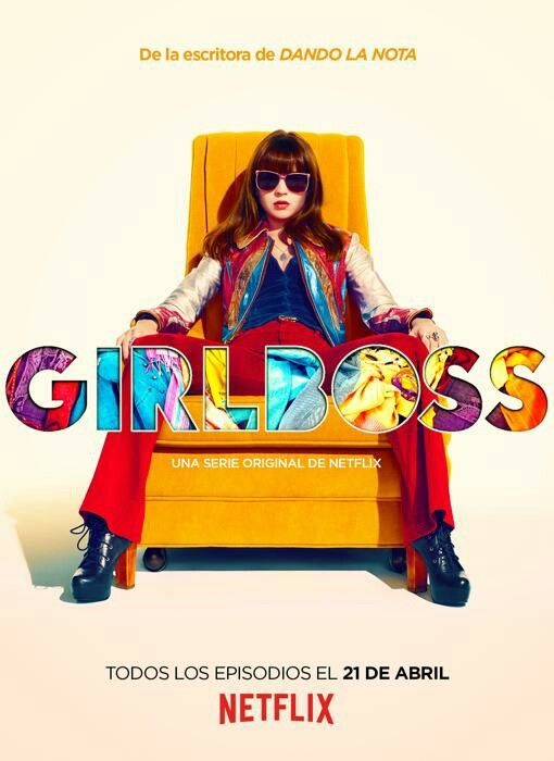 Girlboss (2017) Netflix. Britt Robertson.  Fun show, I like it. Don't get all the criticism about how Sophia isn't a likeable, good person. Who wants to see a show about a morally perfect, flat character?