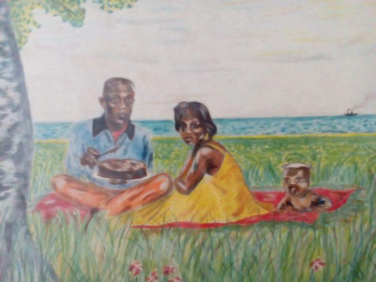 snídaně v trávě, A4 progreso