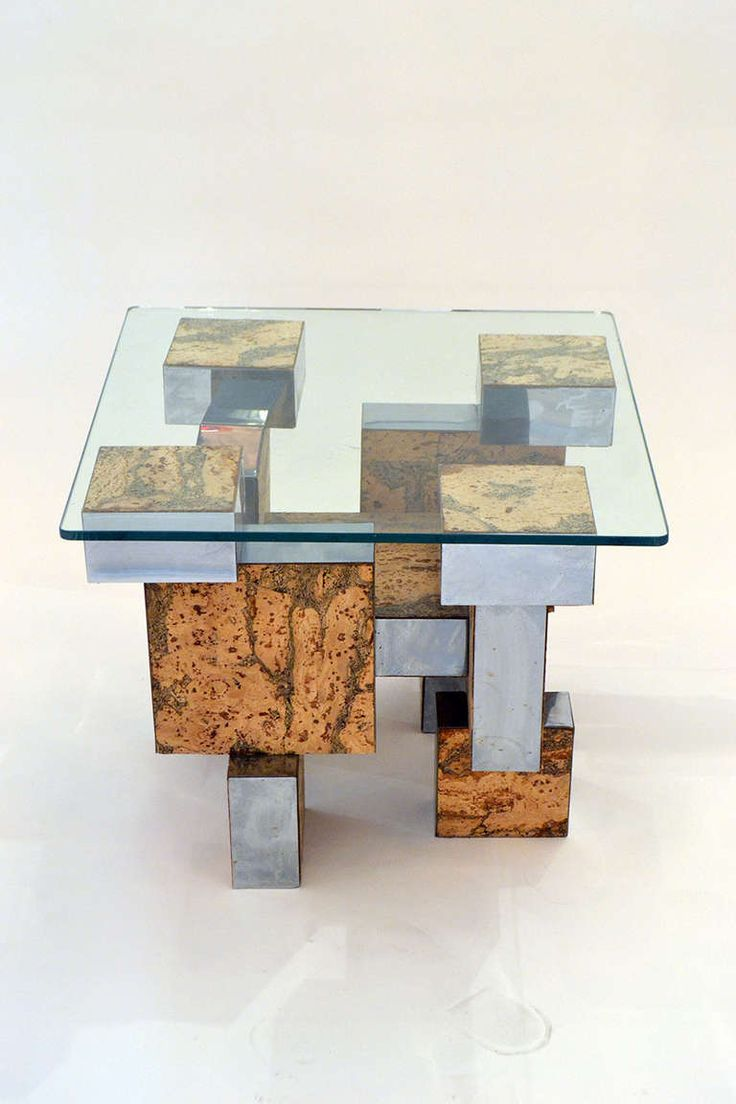 Paul Evans Cork And Chrome Cityscape Occasional Table