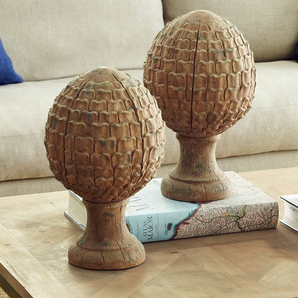 French artichoke finial decor objects of creativity for Artichoke decoration
