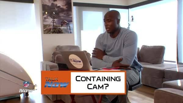 """""""Cam is a monster back there.""""   Dwight Freeney (Atlanta Falcons) on Talk NOW with DeMarcus Ware.   MORE: http://on.nfl.com/77iYkp"""