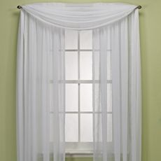 Crushed Voile Platinum Collection Sheer Rod Pocket Window Curtain Panels - Bed Bath & Beyond (kitchen set is mint)
