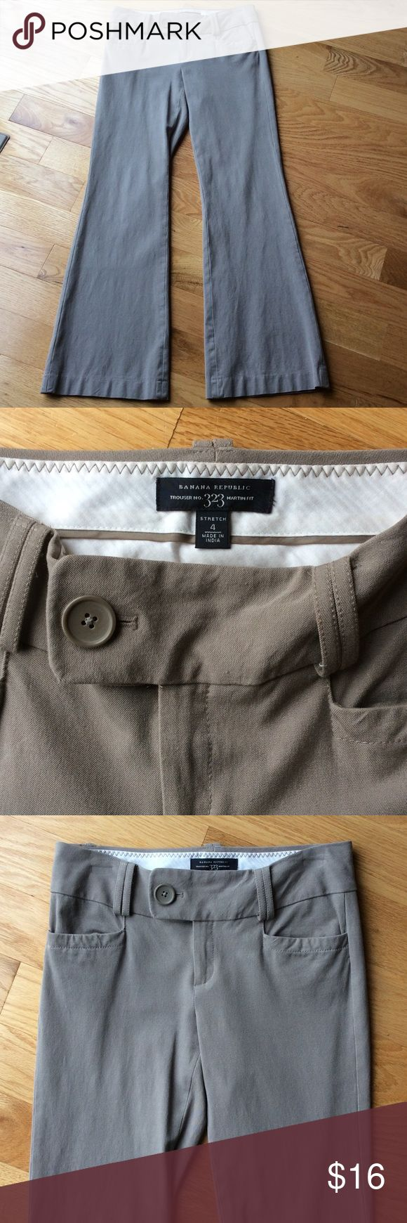 Banana Republic Trousers Martin Fit 323 Style Banana Republic Trousers taupe / beige color size 4 stretch. Good condition. Banana Republic Pants Trousers
