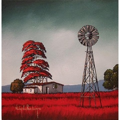 Windmill.Original Painting by Nicky van Rensburg.400x400mm