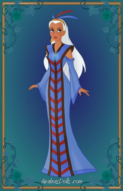 Disney Atlantis Character Design : Princess kida ceremonial gown by kawaiibrit on