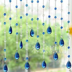Beautiful Beads Curtain Crystal Beads Curtain Door Cover Screen 1M Length String | eBay