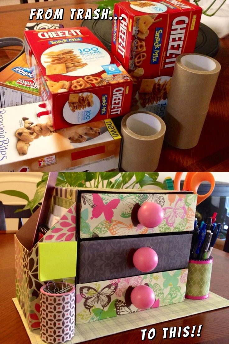 Recycling boxes, reciclando, reciclar, organizador de escritorio, desk organizer